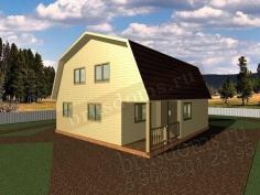 Проект Д-42. Дом из бруса 7.5x8
