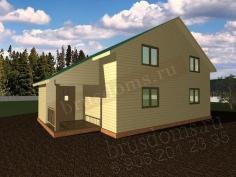 Проект Д-50. Загородный дом из бруса 10 на 9