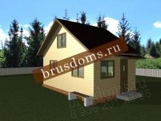 Проект Д-1. Дачный домик 6x4