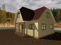 Проект Д-33. Дом из бруса 8x7