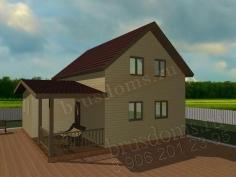 Проект Д-37. Двухэтажный дом из бруса 8 на 8