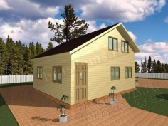 Проект Д-39. Деревянный дом из бруса 7x6