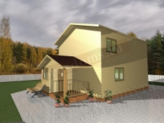Проект Д-40. Двухэтажный дом из бруса 9 на 6